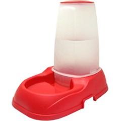 자율급수기 레드 애견용품 강아지 물그릇 밥그릇 식기