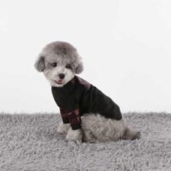 다솜 크로커다일 탑 레더st 강아지겨울옷
