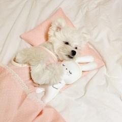 개달당 핸드메이드 오가닉 도트 꿀잠 분리형 강아지베개 고양이베개
