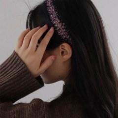 학생 반짝이 펄 얇은 심플 데일리 학생 헤어 머리띠