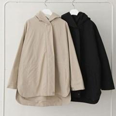 봄 오버핏 나그랑 후드 지퍼 스트링 바람막이 야상자켓