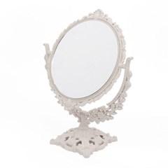 프로방스 원형 회전 탁상거울 화장대 양면거울