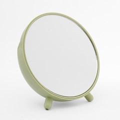 수납형 탁상거울(그린) / 원형 화장거울