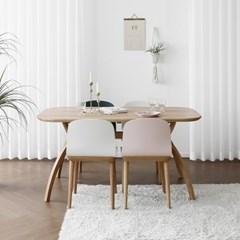 [오크] SEMI 하이엔드 A형 커브식탁/테이블 세트 : 화이_(1671754)