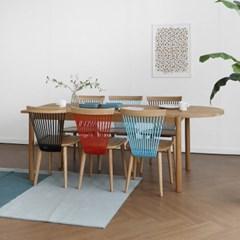 [오크] A1형 반원형 식탁/테이블 세트 : 화이트오크 2100(1693011)