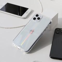 변색없는 아이폰 홀로그램 케이스 오로라 젤하드 케이스
