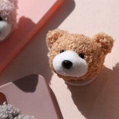 귀여운 곰돌이 스마트톡 뽀글뽀글 인형핸드폰그립 거치대