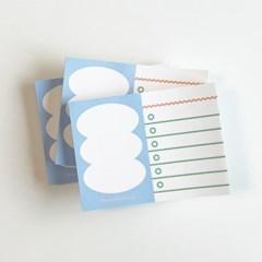 도형 메모지 (블루)