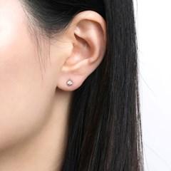 [몽슈와] 14K 3mm 큐빅 티어드롭 탄생석 귀걸이