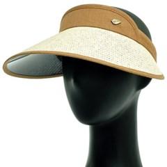 KAP04.마밴드 밀짚 여성 썬캡 지사 여름 챙모자