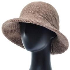 KKU08.큰챙 니트 여성 벙거지 모자 버킷햇 봄 가을 챙모자