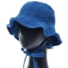 KKU09.끈장식 니트 여성 벙거지 모자 버킷햇 봄 가을 챙모자