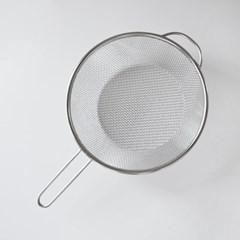 편리한 핸들 스텐 튀김망 넓은홀 채반 20cm_(1813258)