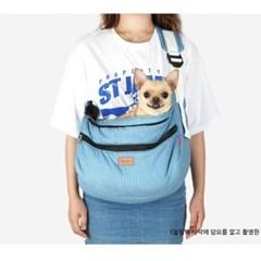 블루라인 슬링백 강아지 이동 가방 애견 외출 용품