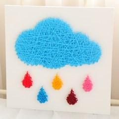 스트링아트 밝은 구름 DIY 키트 (30x30cm)