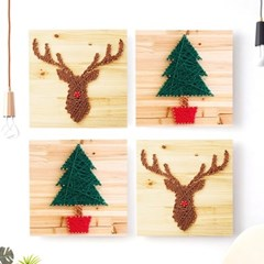 스트링아트 루돌프 사슴 DIY 키트 (30x30cm)