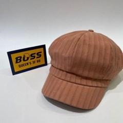 무지 기본 세로줄 꾸안꾸 패션 헌팅캡 마도로스 모자