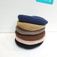 뜨개 기본 심플 데일리 꾸안꾸 패션 베레모 모자
