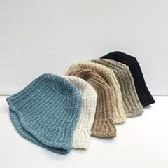 니트 뜨개 와이어 챙넓은 기본 버킷햇 벙거지 모자