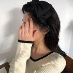5종 리본 헤어밴드 벨벳 새틴 쉬폰 / 왕리본머리띠