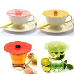 프랑스 찰스비안신 플라워 실리콘 컵덮개 컵뚜껑 2개세트 4종 택1