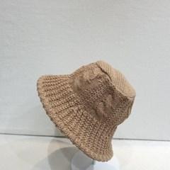 뜨개 니트 와이어 챙넓은 패션 버킷햇 벙거지 모자