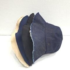 진청 무지 기본 올풀림 꾸안꾸 버킷햇 벙거지 모자