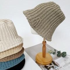 뜨개 니트 데일리 꾸안꾸 패션 버킷햇 벙거지 모자