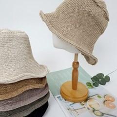 니트 뜨개 꾸안꾸 데일리 패션 버킷햇 벙거지 모자