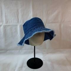 올풀림 챙넓은 데님 데일리 패션 버킷햇 벙거지 모자