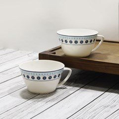 한국도자기 브리지블루 라면기 2p 세트 손잡이 면그릇