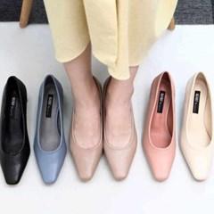 kami et muse Soft wood heel slim pumps_KM21s026