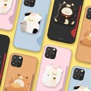 머랭 카우 하드 카드수납 카드슬림 케이스+젤리톡 세트 아이폰