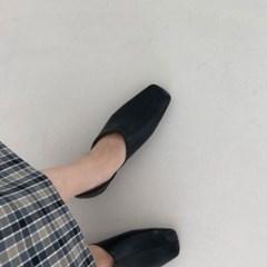 여성 가죽 스퀘어토 심플 투웨이 블로퍼 DONA 5807