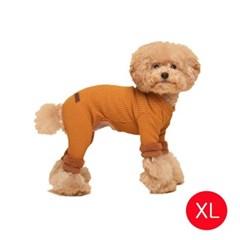 강아지 캐시 웜 올인원 머스타드 XL