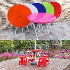 국산 고급2단 대형 우산형 파라솔_원형 테이블 (6색)