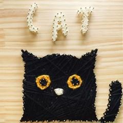 스트링아트 고양이 DIY 키트 (40x40cm)