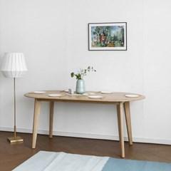 [오크] A형 라운드식탁/테이블 : 화이트오크 1800_(1696305)
