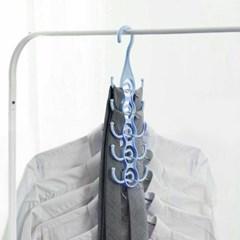 릴레이 공간활용옷걸이(블루)/ 후크형 스카프걸이