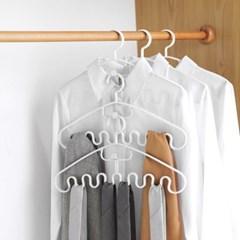 더홈 연결고리 물결 옷걸이 5p세트 공간활용 스카프