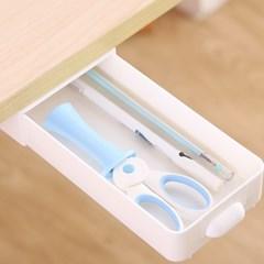 언더프리 접착식 히든서랍 책상밑 붙이는 포켓서랍