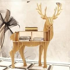 DIY 순록 동물모형 선반 책장 소품 책진열대