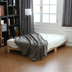 무아르 소나무 원목 평상형 저상 침대 퀸사이즈