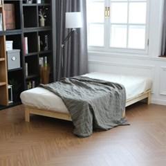 무아르 소나무 원목 평상형 저상 침대 슈퍼싱글
