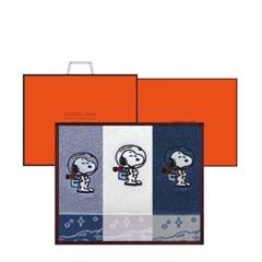 송월타월 스누피 스페이스 3매 선물세트+쇼핑백 기념수건 답례품