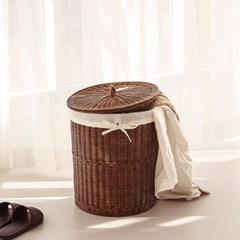 라탄 하우스 원형헴퍼 수건세탁 빨래바구니