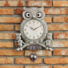 (kspz354)저소음 아콘부엉이 시계 (주석)_(1506148)