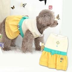 애완견 명절 걸즈 한복 옐로우 강아지 펫 개량 한복