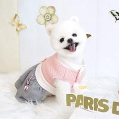 애완견 명절 걸즈 한복 핑크 강아지 데일리 개량 한복
