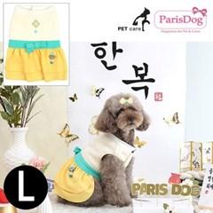 패리스독 걸즈한복 옐로우 L